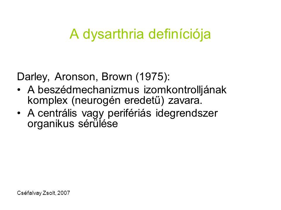 A dysarthria definíciója
