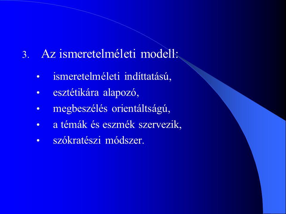 Az ismeretelméleti modell: