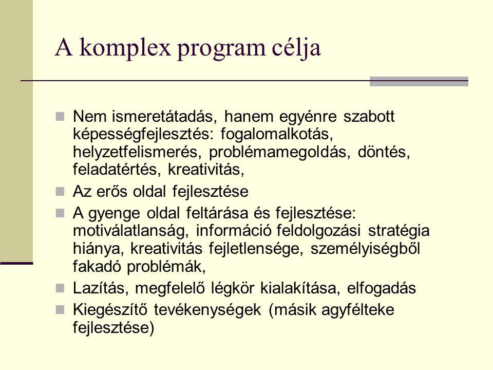 A komplex program célja