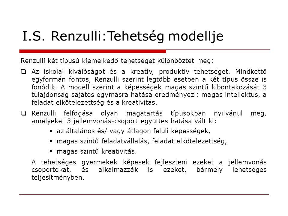 I.S. Renzulli:Tehetség modellje