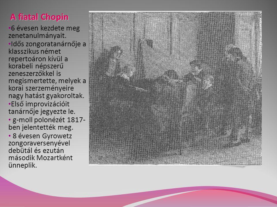 A fiatal Chopin 6 évesen kezdete meg zenetanulmányait.