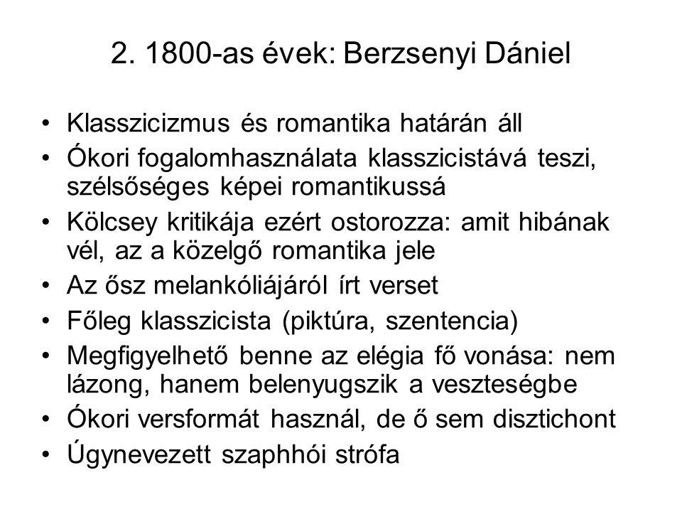 2. 1800-as évek: Berzsenyi Dániel