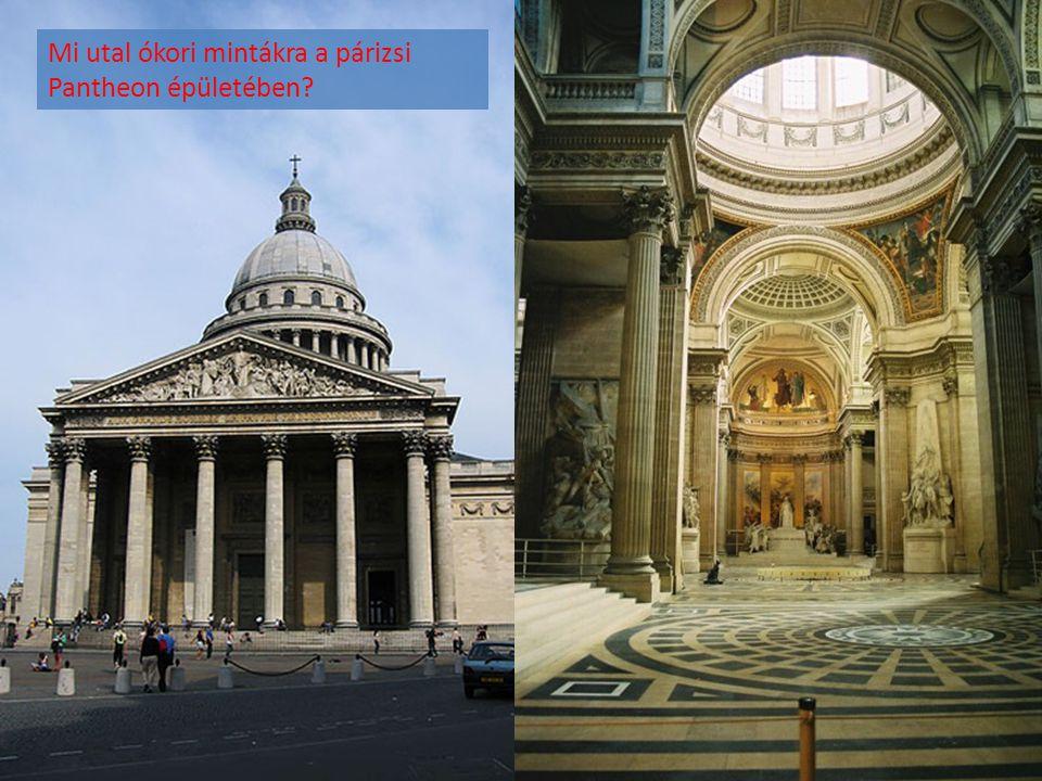 Mi utal ókori mintákra a párizsi Pantheon épületében