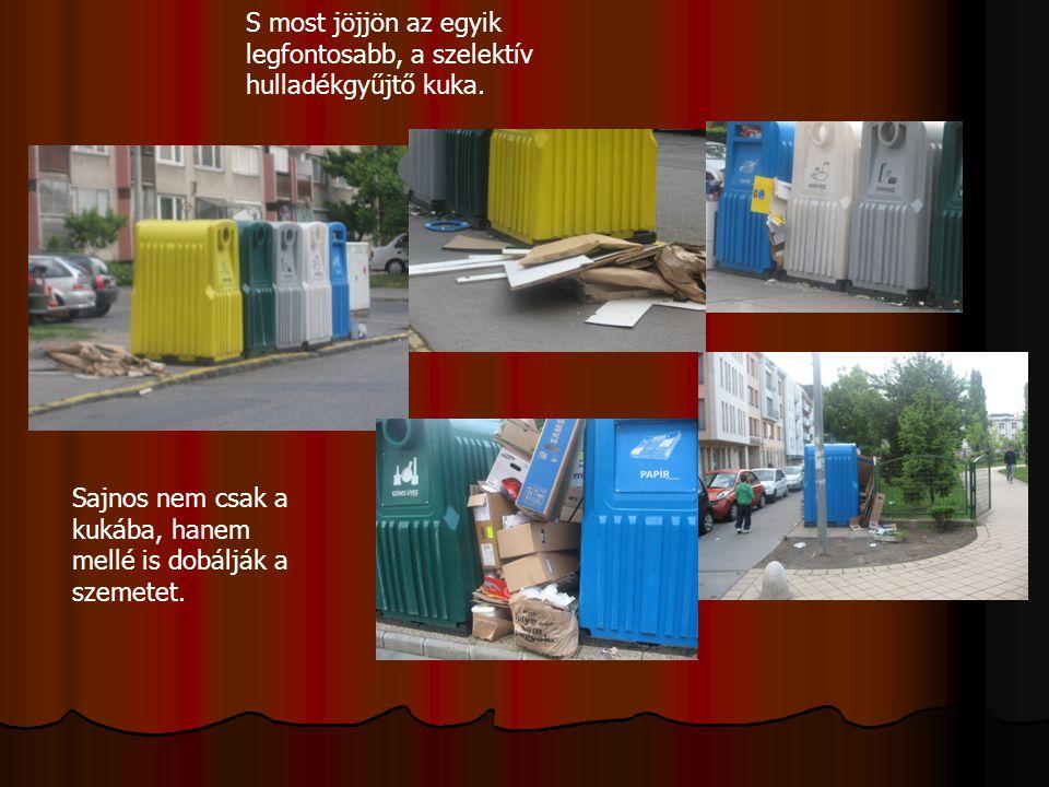 S most jöjjön az egyik legfontosabb, a szelektív hulladékgyűjtő kuka.