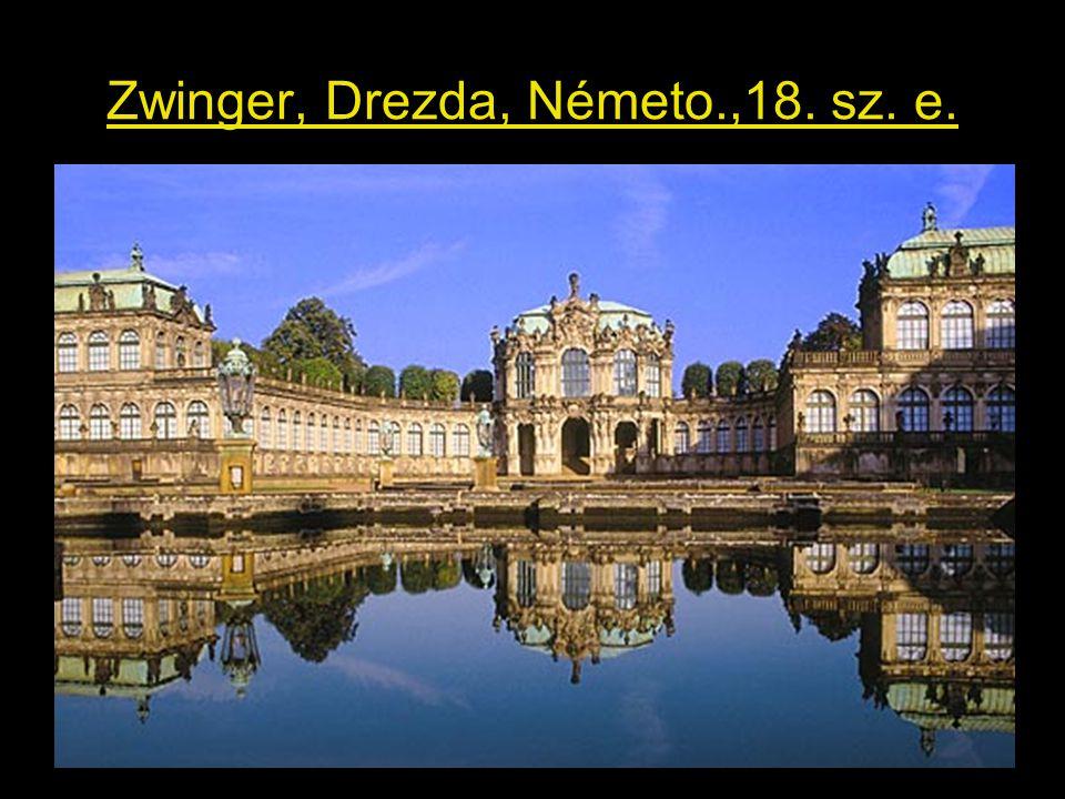 Zwinger, Drezda, Németo.,18. sz. e.