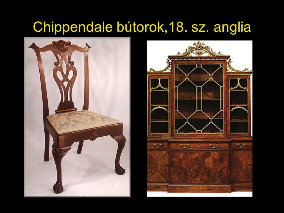 Chippendale bútorok,18. sz. anglia