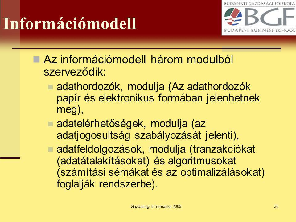 Gazdasági Informatika 2009.