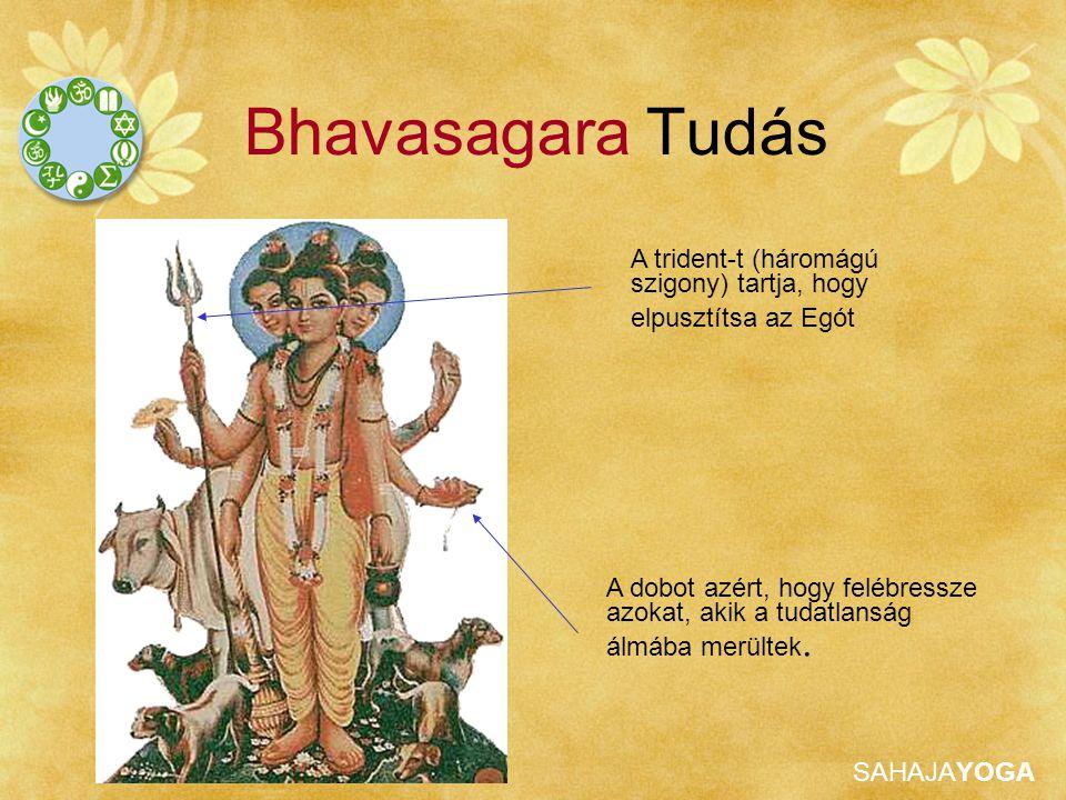 Bhavasagara Tudás A trident-t (háromágú szigony) tartja, hogy elpusztítsa az Egót.
