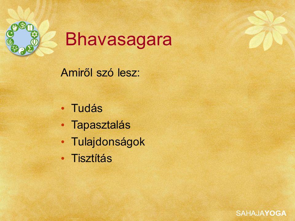 Bhavasagara Amiről szó lesz: Tudás Tapasztalás Tulajdonságok Tisztítás
