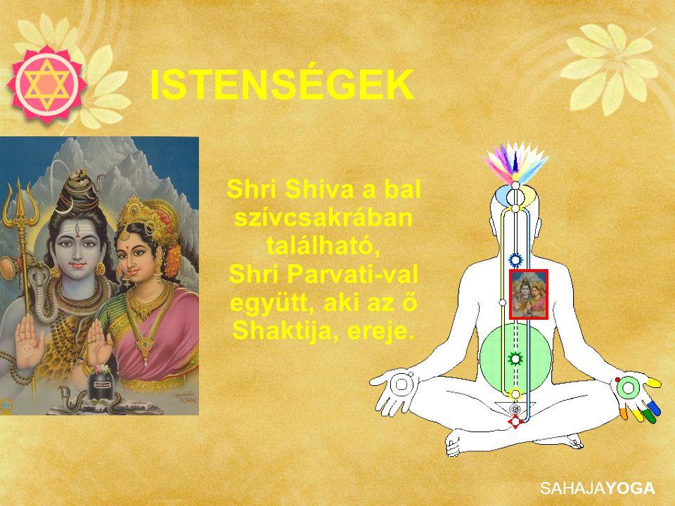 ISTENSÉGEK Shri Shiva a bal szívcsakrában található, Shri Parvati-val együtt, aki az ő Shaktija, ereje.