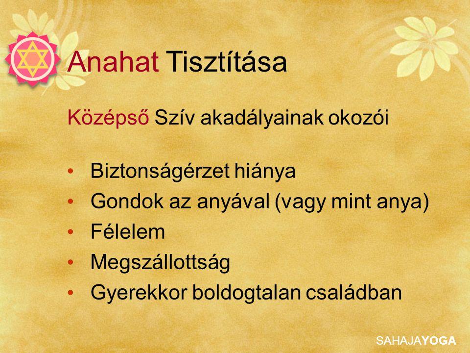 Anahat Tisztítása Középső Szív akadályainak okozói