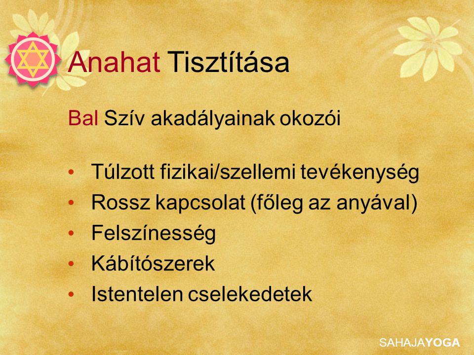 Anahat Tisztítása Bal Szív akadályainak okozói