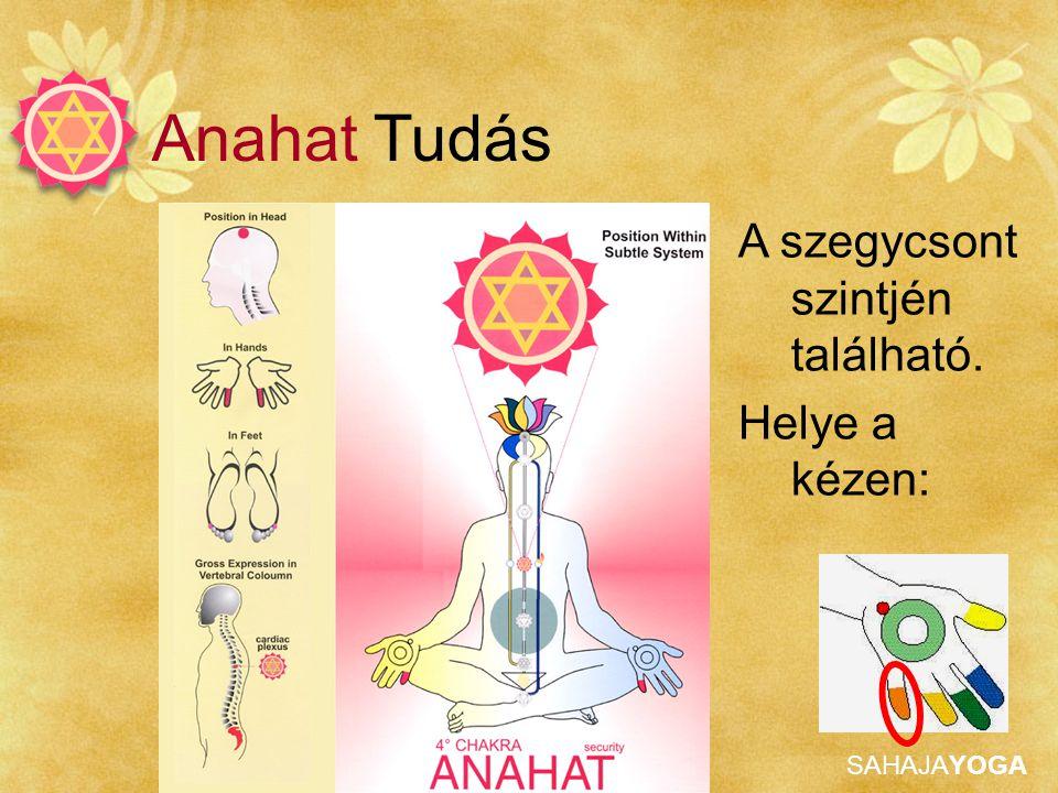 Anahat Tudás A szegycsont szintjén található. Helye a kézen: