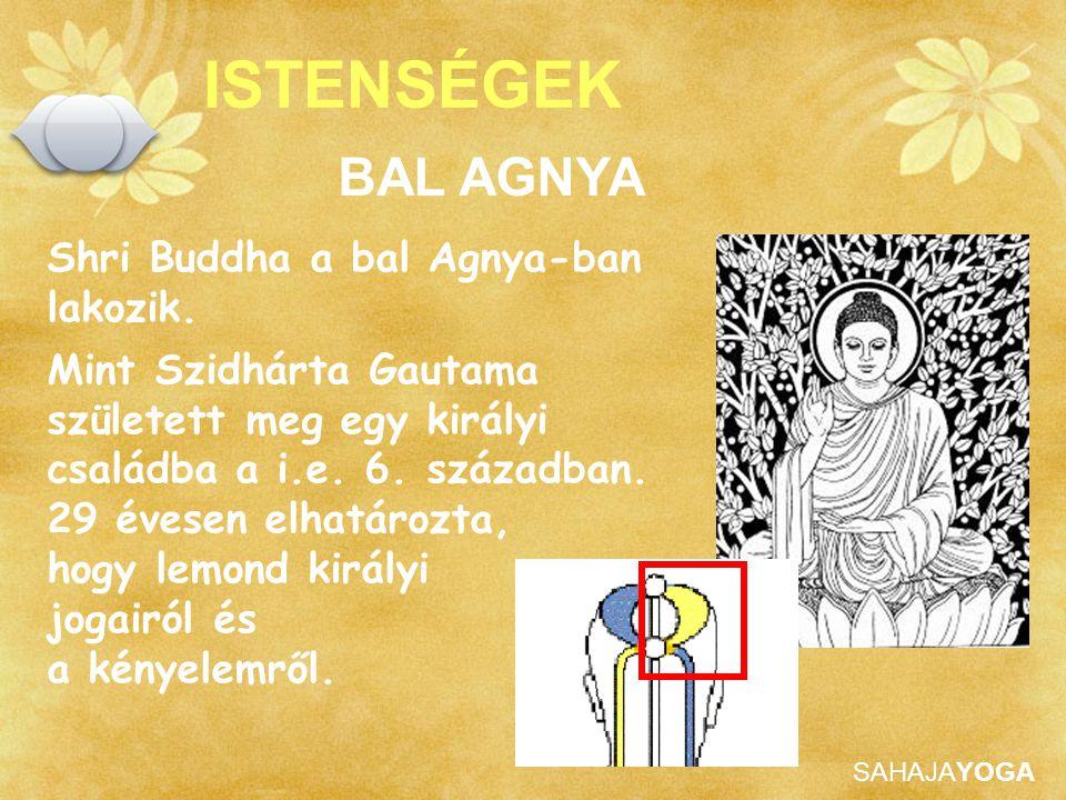 ISTENSÉGEK BAL AGNYA Shri Buddha a bal Agnya-ban lakozik.