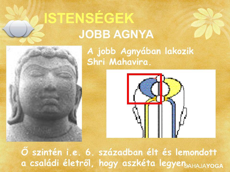 ISTENSÉGEK JOBB AGNYA A jobb Agnyában lakozik Shri Mahavira.