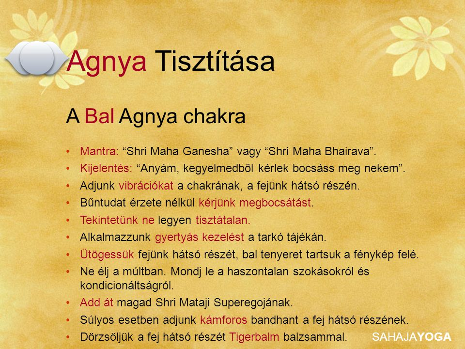 Agnya Tisztítása A Bal Agnya chakra