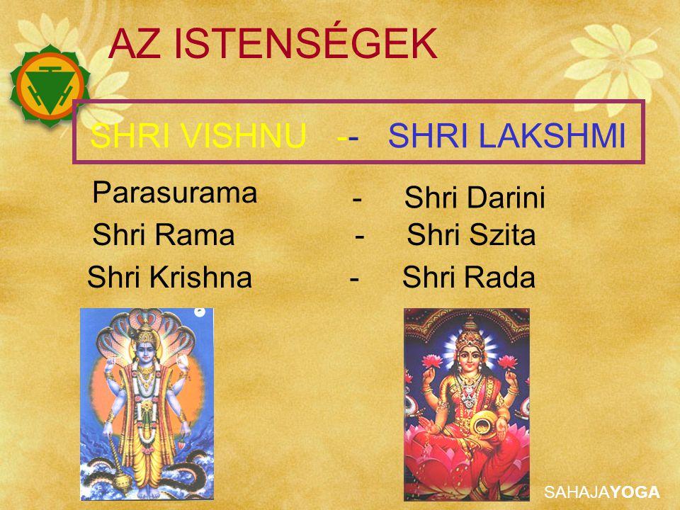AZ ISTENSÉGEK SHRI VISHNU -- SHRI LAKSHMI Parasurama - Shri Darini
