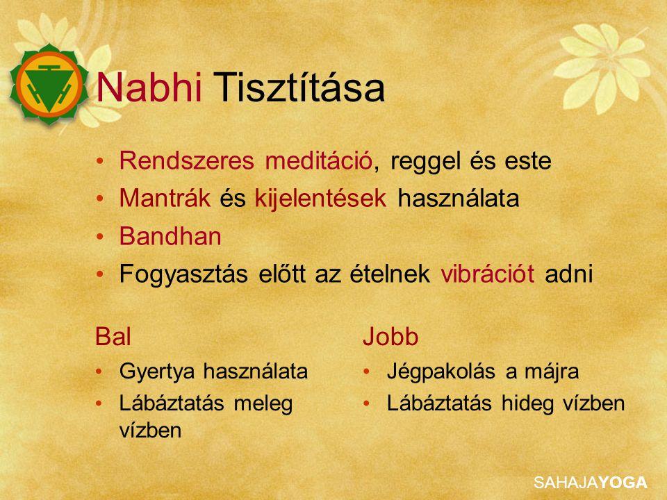 Nabhi Tisztítása Rendszeres meditáció, reggel és este