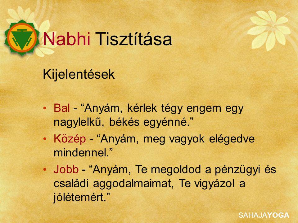 Nabhi Tisztítása Kijelentések