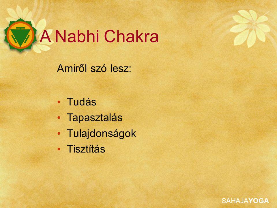 A Nabhi Chakra Amiről szó lesz: Tudás Tapasztalás Tulajdonságok