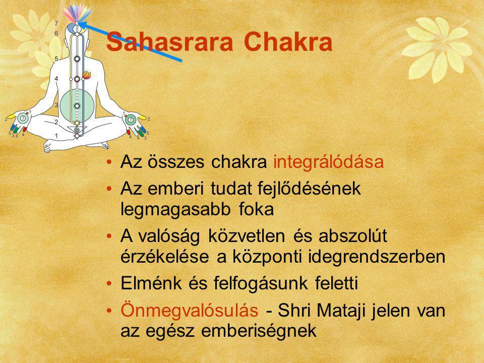 Sahasrara Chakra Az összes chakra integrálódása