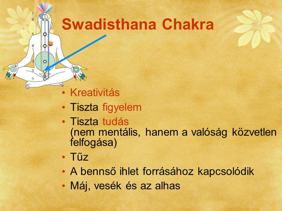 Swadisthana Chakra Kreativitás Tiszta figyelem