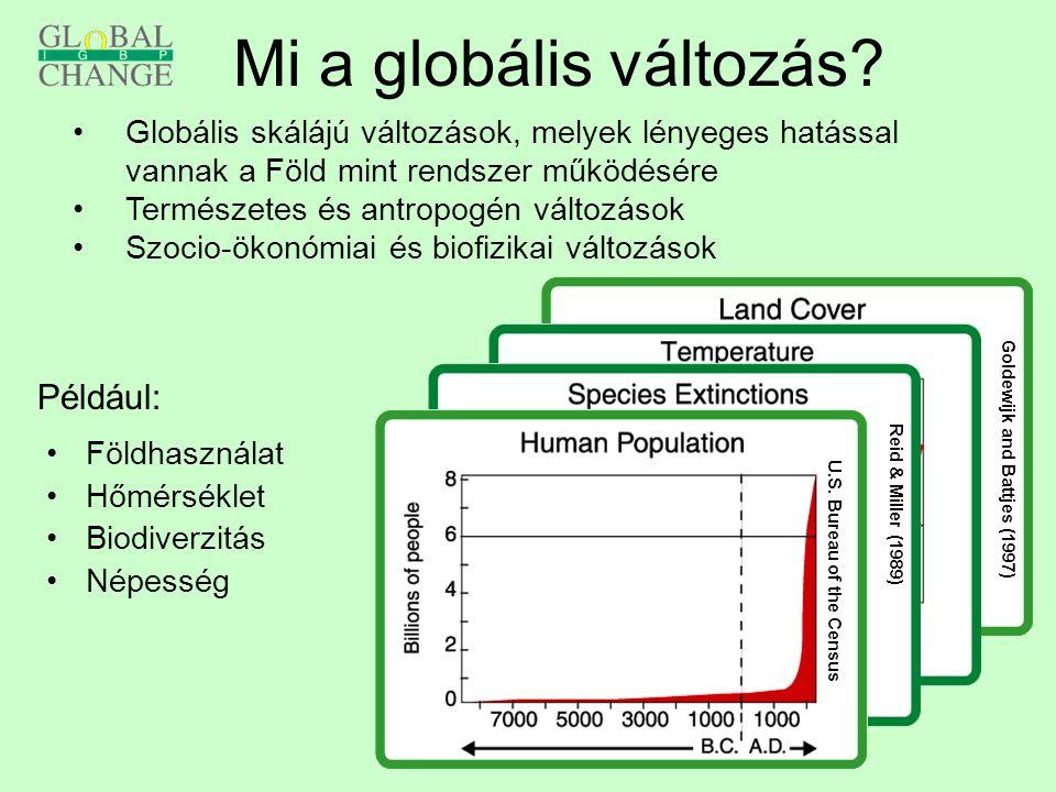 Mi a globális változás Például: