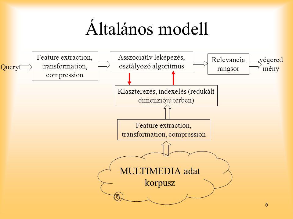 Általános modell MULTIMEDIA adat korpusz
