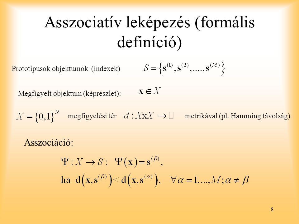 Asszociatív leképezés (formális definíció)