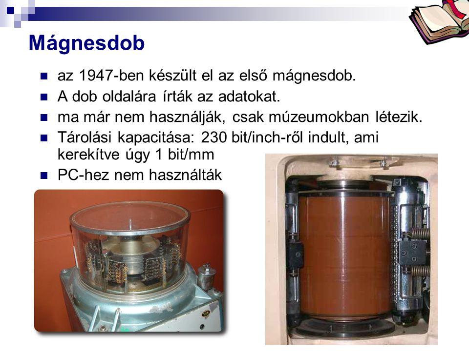 Mágnesdob az 1947-ben készült el az első mágnesdob.