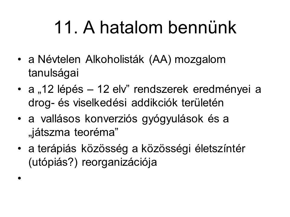11. A hatalom bennünk a Névtelen Alkoholisták (AA) mozgalom tanulságai