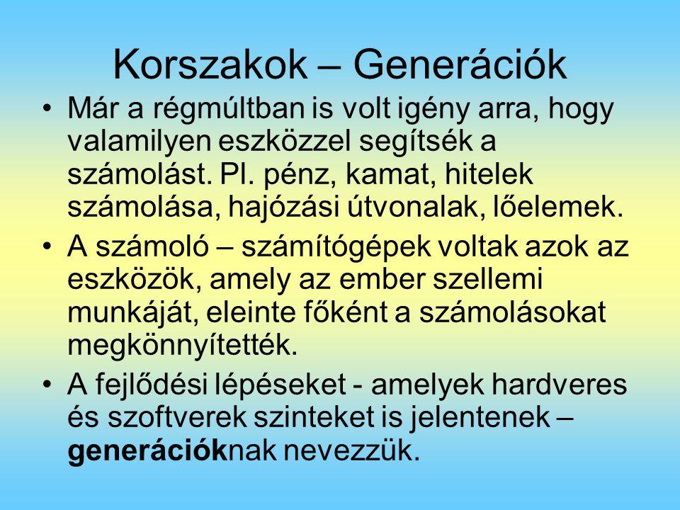 Korszakok – Generációk