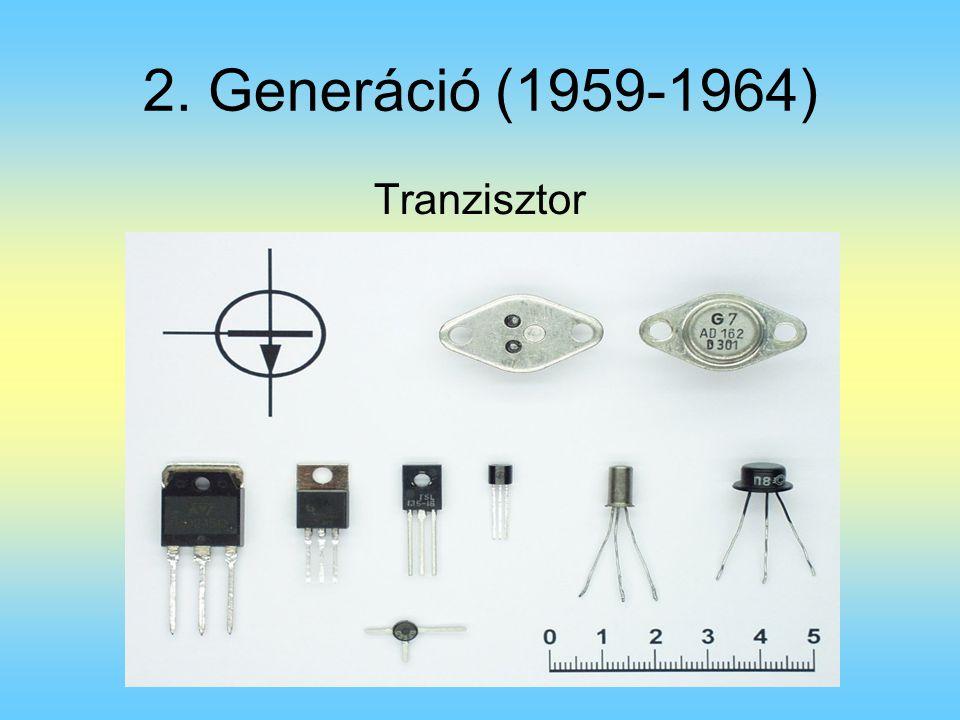 2. Generáció (1959-1964) Tranzisztor