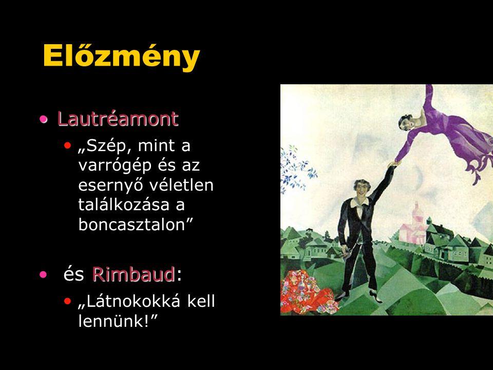 Előzmény Lautréamont és Rimbaud: