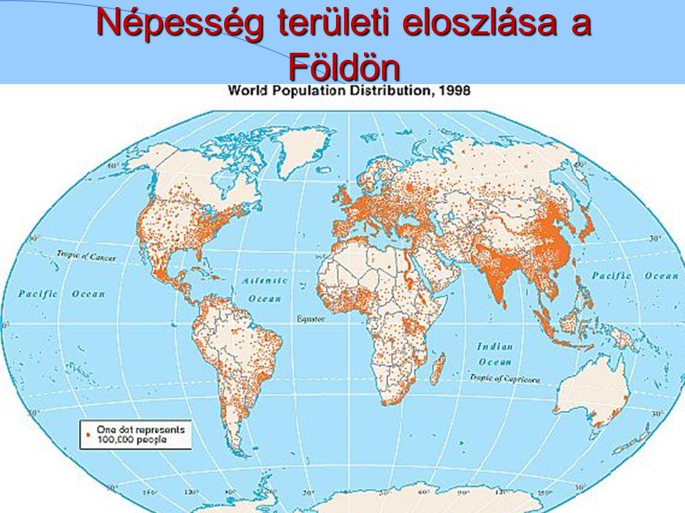 Népesség területi eloszlása a Földön