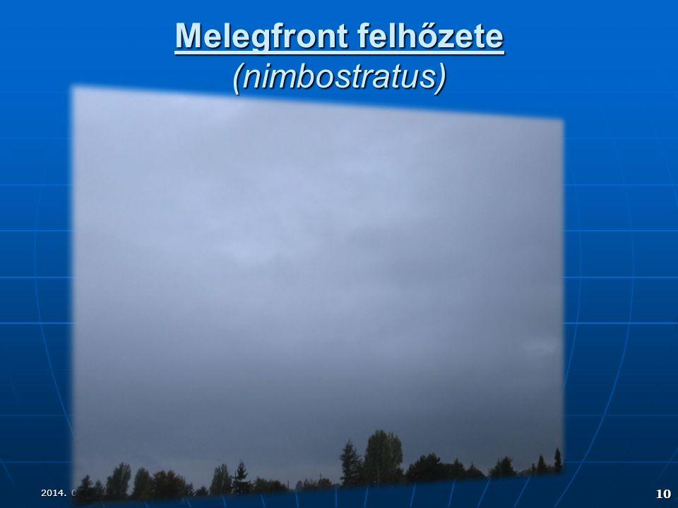 Melegfront felhőzete (nimbostratus)