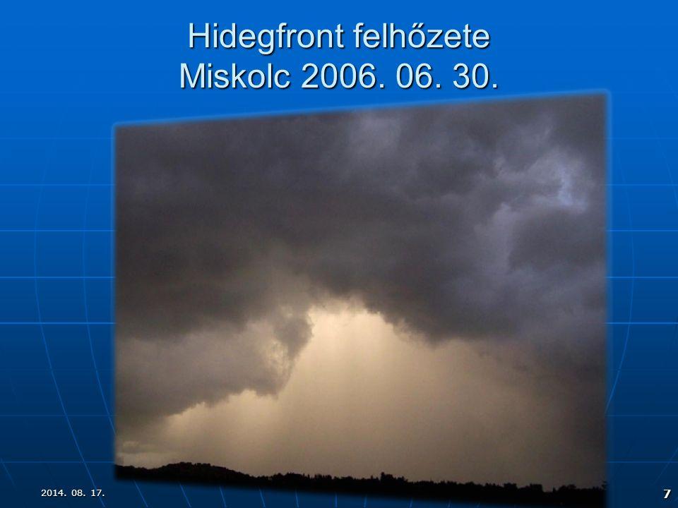 Hidegfront felhőzete Miskolc 2006. 06. 30.