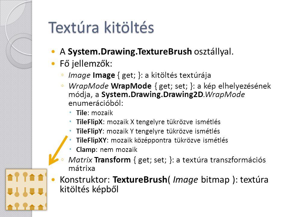 Textúra kitöltés A System.Drawing.TextureBrush osztállyal.