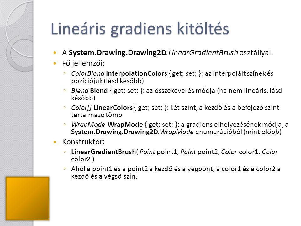Lineáris gradiens kitöltés