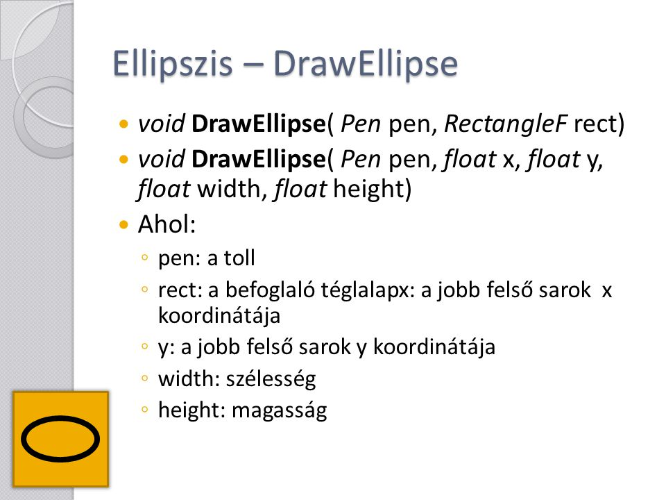 Ellipszis – DrawEllipse
