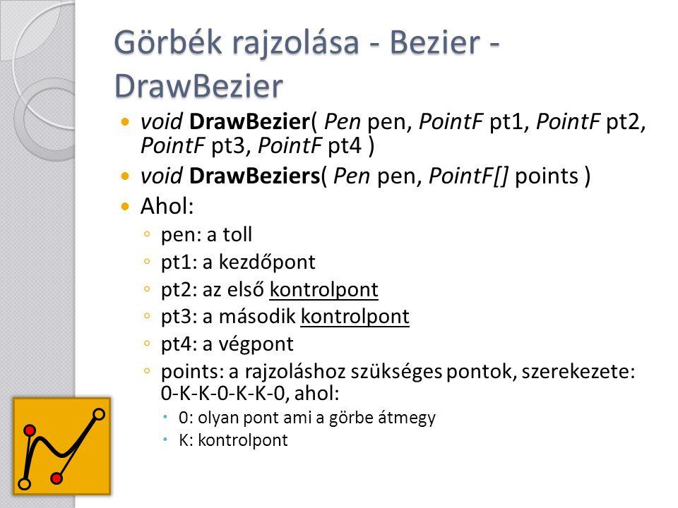 Görbék rajzolása - Bezier - DrawBezier