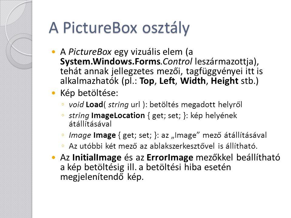 A PictureBox osztály