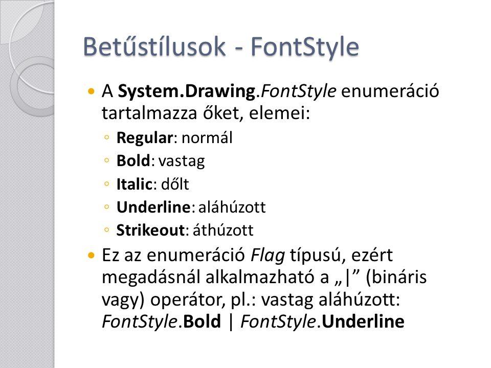 Betűstílusok - FontStyle