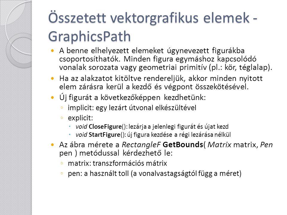 Összetett vektorgrafikus elemek - GraphicsPath