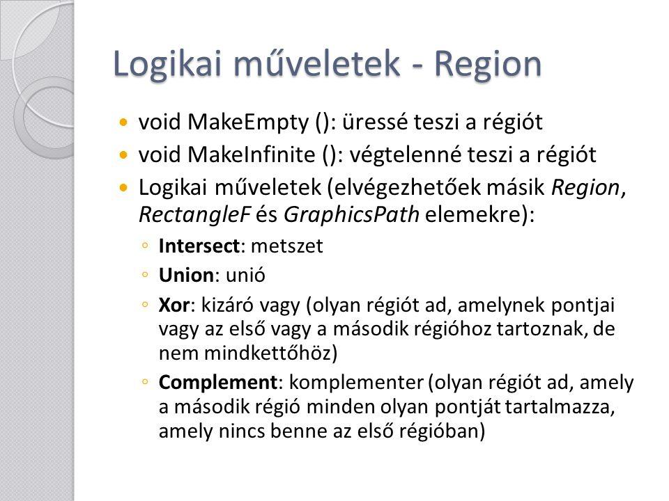 Logikai műveletek - Region