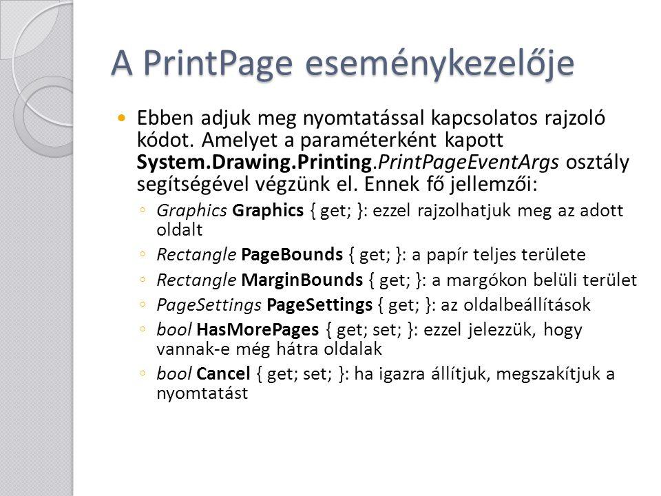 A PrintPage eseménykezelője