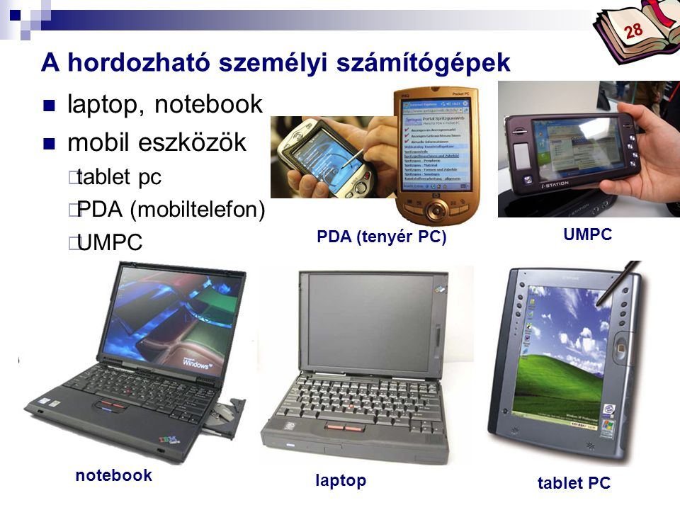 A hordozható személyi számítógépek