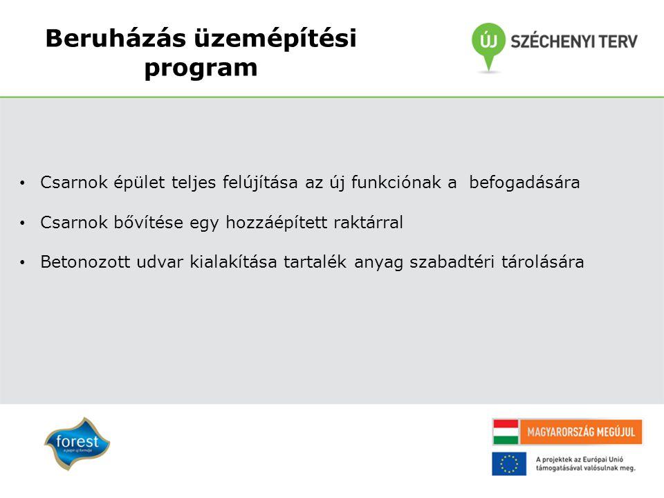 Beruházás üzemépítési program