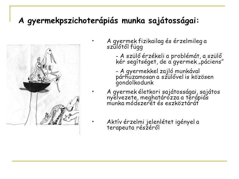 A gyermekpszichoterápiás munka sajátosságai:
