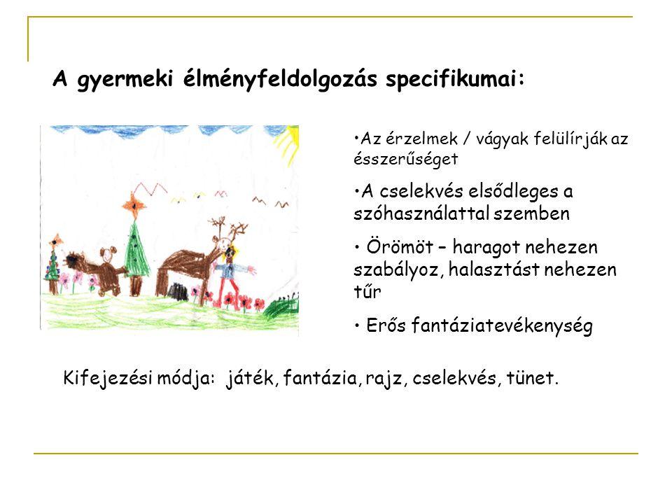 A gyermeki élményfeldolgozás specifikumai: